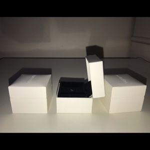 set of 3 pandora single ring boxes